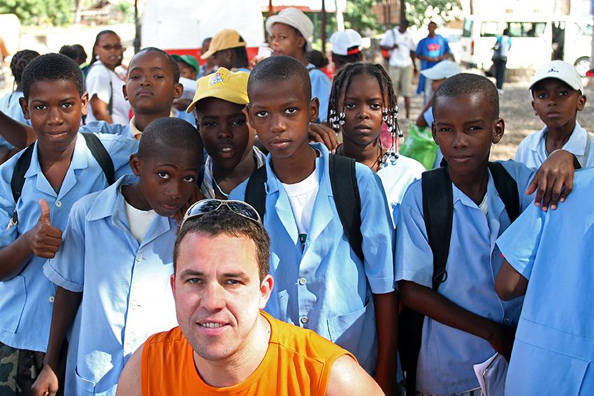 Schulklasse auf den Kapverden