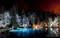 Winterliches Blauseepanorama bei Nacht