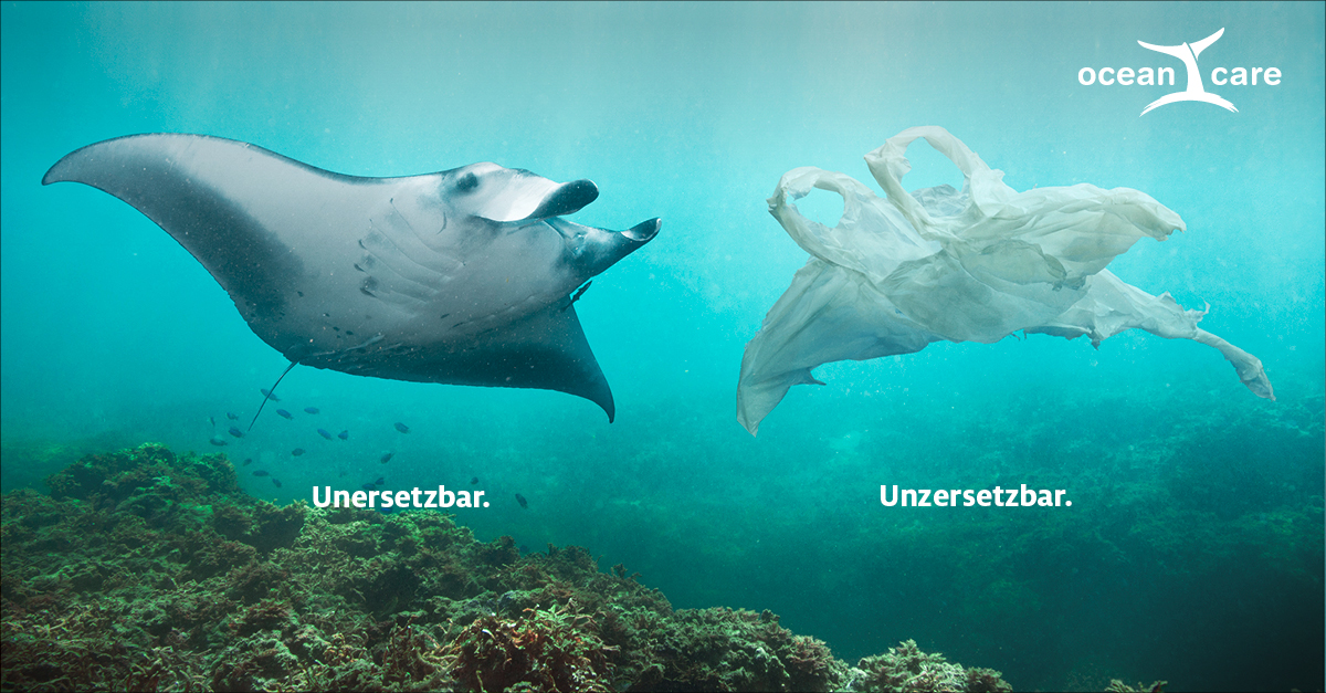 OceanCare Plastikkampagne Manta