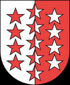 Flagge vom Kanton Wallis in der Schweiz