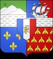 Flagge vom französischen Übersedepartement La Réunion